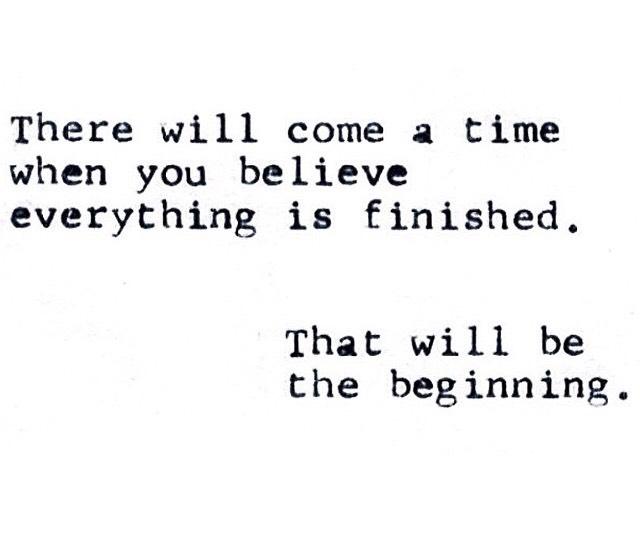 הסוף הוא רק ההתחלה